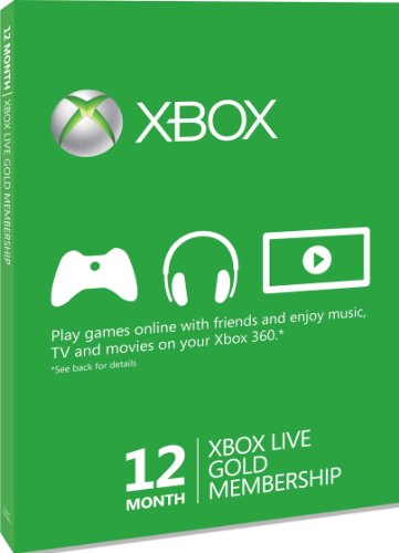 Xbox LIVE Gold 12-Month Membership Card (Xbox 360)