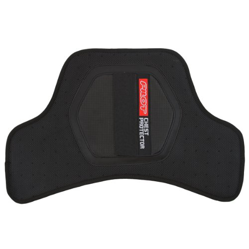 Pilot Core Motorcycle Full Chest Protector V2 (Black, One Size)