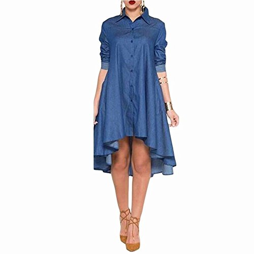 monroe-s-womens-asymmetric-hem-a-line-party-cocktail-shirt-denim-dress