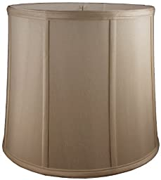American Pride Lampshade Co. 74-78090510 Round Soft Tailored Lampshade, Shantung, Croissant