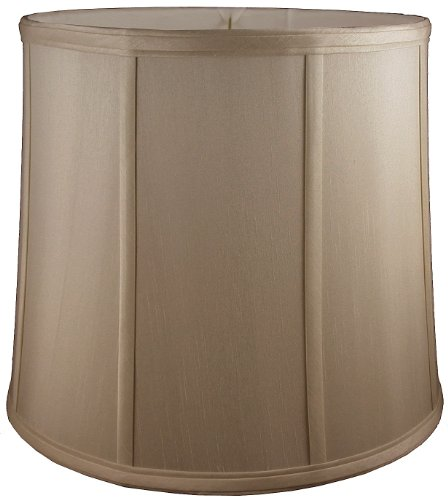 American Pride Lampshade Co. 74-78090512A Round Soft Tailored Lampshade, Shantung, Croissant