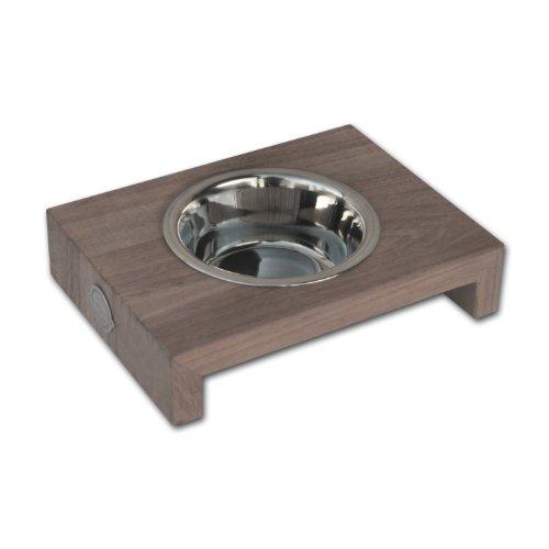 Bild: DinnerBowl TeakWood single Hundenapf Futternapf size SL Hundekronede  Hundeshop  Zubehör  Fassungsvermögen1 x 03 L