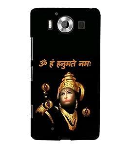 Sri Hanuman 3D Hard Polycarbonate Designer Back Case Cover for Nokia Lumia 950 :: Microsoft Lumia 950