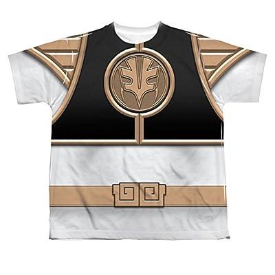 Power Rangers White Ranger Uniform All Over Print Youth Front T-Shirt