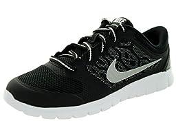 Nike Kids Flex 2015 Rn (PS) Black/Metallic Silver/White Running Shoe 11.5 Kids US