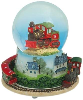 "MusicBox Kingdom 14181 Snow Globe Train Musical Jewelry Box, Playing ""Chatta Nooga Choo Choo"""