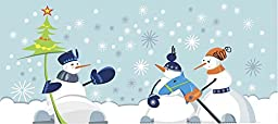 Wallmonkeys WM215742 Snowmen Peel and Stick Wall Decals (48 in W x 21 in H)