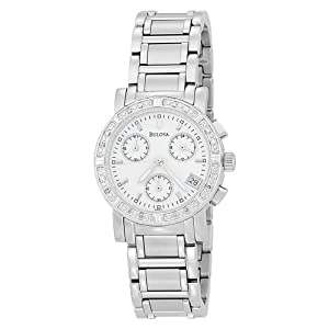 Bulova Women's 96R19 Diamond Chronograph Watch from Bulova
