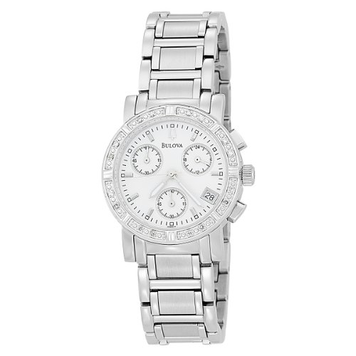 Bulova Chronograph Ladies Watch - 96R19