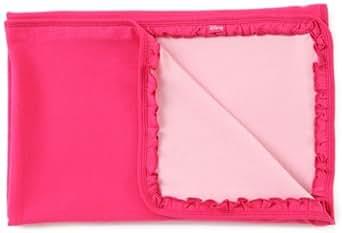 Disney Baby-Girls Newborn Reversible Blanket, Fuschia/Pink, One size