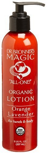 Dr. Bronner's & All-One Organic Lotion for Hands & Body, Orange Lavender, 8-Ounce Pump Bottles (Pack of 2)