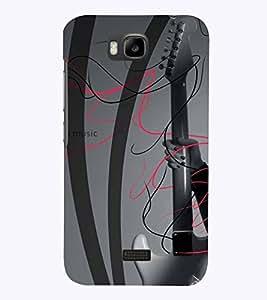 PrintVisa Music Guitar 3D Hard Polycarbonate Designer Back Case Cover for Huawei Honor Bee