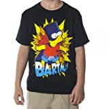 Simpsons Bartman Boys Black Tee (Medium)