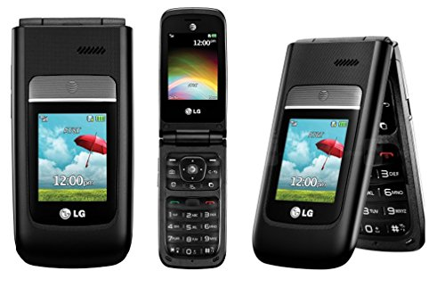 LG A380 Unlocked GSM 3G Flip Camera Cell Phone - Black
