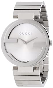 Gucci Women's YA133308 Interlocking Iconic Bezel Silver Dial Watch