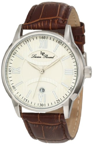 Lucien Piccard Men's 11576-02S Clariden Silver Textured Dial Watch