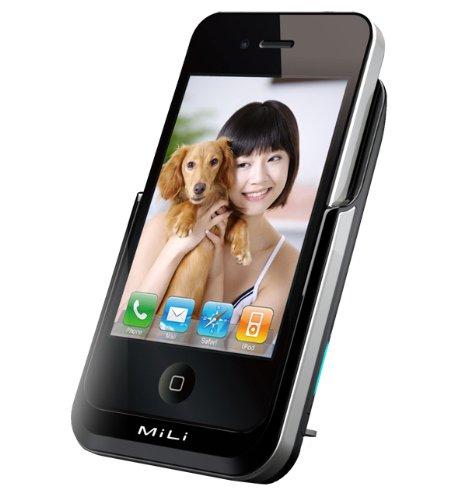 MiLi Power Pack External Battery 3000mAh Capacity for iPhone 4 / 4S (Black)