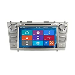 See Crusade Car DVD Player for Toyota Camry 2007-2011 Support 3g,1080p,iphone 6s/5s,external Mic,usb/sd/gps/fm/am Radio 8 Inch Hd Touch Screen Stereo Navigation System+ Reverse Car Rear Camara + Free Map Details