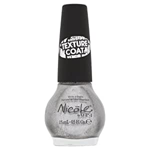 Nicole By Opi, Silver Texture, 0.5-Fluid Ounce