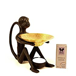 Grehom Oil Burner Set - Monkey; Metal Oil Burner