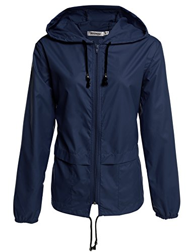 Meaneor Womens Rainwear Active Outdoor Hooded Cycling Packable and Lightweight Jacket (Women Raincoat With Hood compare prices)