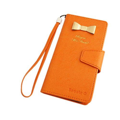スマホケース スマホカバー手帳型 docomo ドコモ GALAXY S4 SC-04E 携帯 カバー カード ケース SIM Free シム フリー オレンジ(05)