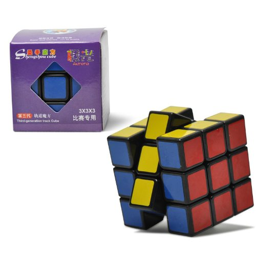 ShengShou New offers for V3 Aurora (Jiguang ) 3 x 3 x 3 Speed Cube Puzzle, Black