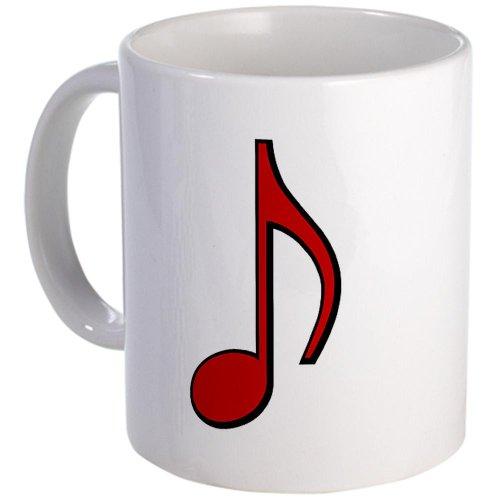Cafepress Retro Red Note Mug - Standard