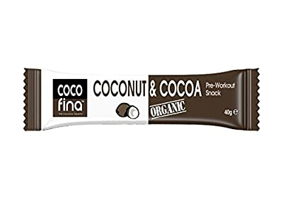 Cocofina Organic Coconut and Cocoa Snack Bar 40 g (Pack of 6)