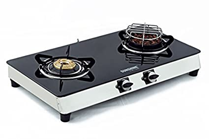 Sunshine Meethi Angeethi 2 Burner Toughened Glass Top Gas Cooktop