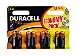 DURACELL Pack Of 8 Duracell Aa Mn1500 R6 1.5V Battery Batteries Brand New Sealed