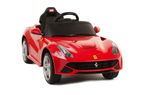 Licensed By Ferrari New Model Ride On Toy Car With Remote Contol 6V Kids Red Ferrari F12 Mp3 Connection,Key For Start