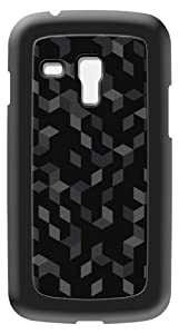 Modelabs Made In France Coque auto cicatrisante en silicone pour Samsung Galaxy S3 Mini Motif Cube Noir