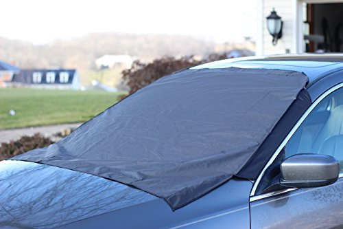 Premium Windshield Snow Cover  Sizes for ALL Vehicles - Covers Wipers - Snow, Ice, Frost Guard  No More Scraping! - Door Flaps  Windproof Magnetic Edges (Windshield Ice Cover compare prices)
