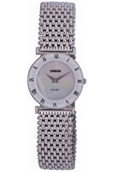 Jowissa Women's J2.078.M Roma MoL Stainless Steel Mother-Of-Pearl Dial Roman Numeral Watch