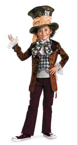 Mad Hatter Deluxe Child 4-6 Kids Boys Costume