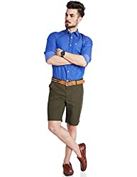 Parx Men's Cotton Shorts (8907254422812_XMHA00202-N7_30_Dark Green)