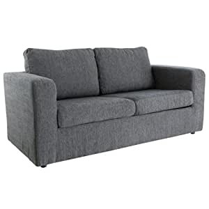 WorldStores Leigh Sofa Bed In Grey 2 Seater Sofa Bed