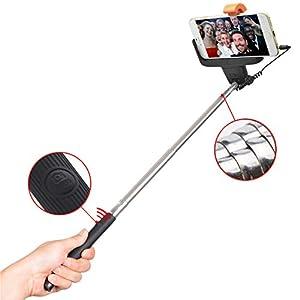 iProtect Selfie Stick Stange Handstativ mit Auslöserknopf für alle Smartphones mit iOS und Android wie iPhone, Samsung Galaxy, Sony Xperia, Huawei, LG etc.