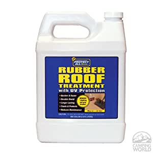 motorhome rubber roof treatment rv rubber roof cleaner 1 gallon automotive. Black Bedroom Furniture Sets. Home Design Ideas