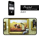 Banksy Reproduction - The Gleaners Millets iPhone 4 Case Cover BNKi4150 Black