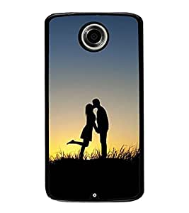 Love Couple 2D Hard Polycarbonate Designer Back Case Cover for Motorola Nexus 6 :: Motorola Nexus X :: Motorola Moto X Pro :: Motorola Google Nexus 6