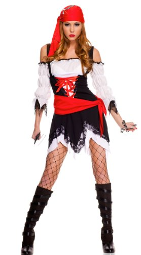 Music Legs Women's Pirate Vixen Girl Costume