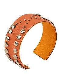 Tiekart Orange Embelished Women Bracelet/Cuffs