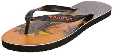 Rip Curl Mens Offset NBU Thong Sandals TCTBD1 Black/Orange 8 UK, 42 EU