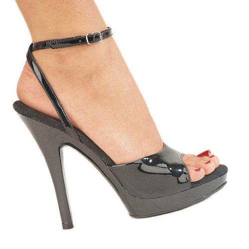5 Inch Sexy Open Toe Shoe High Heel Shoe Mini Platform Shoe BlackPatent