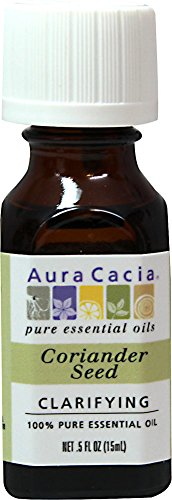 Aura Cacia Coriander Seed, Essential Oil, 1/2 oz. bottle