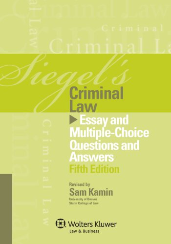 criminal law essay questions Welcome to law schools and professors to law firms free bar review programs pearce micro review micro review frequently asked questions micro review: torts.