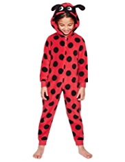 Soft & Cosy Hooded Ladybird Fleece Onesie