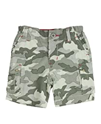 RuggedButts® Infant / Toddler Boys Boys Camo w/ Red Cargo Shorts - Camo Print - 6-12m